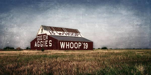 Photograph - Aggie Barn 2015 II by Joan Carroll