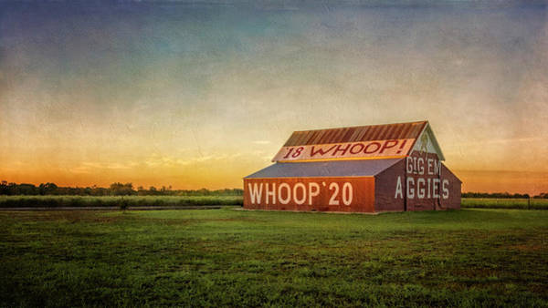 Photograph - Aggie Barn 2016 by Joan Carroll