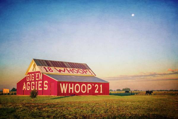 Wall Art - Photograph - Aggie Barn 2017 Textured by Joan Carroll
