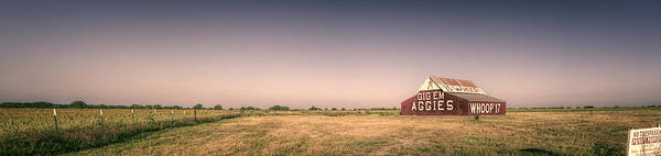 Photograph - Aggie Barn Panorama by Joan Carroll