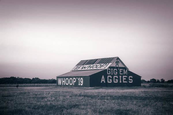 Photograph - Aggie Barn Sunrise 2015 Platinum by Joan Carroll