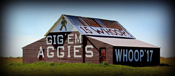 Wall Art - Photograph - Aggie Barn - Whoop  by Stephen Stookey