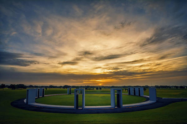 Wall Art - Photograph - Aggie Bonfire Memorial by Joan Carroll