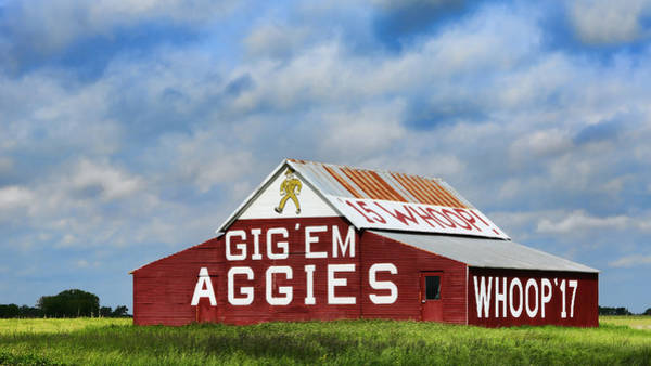 Texas Landscape Photograph - Aggie Nation Barn by Stephen Stookey