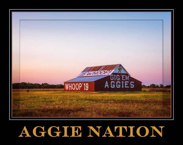 Photograph - Aggie Nation Poster II by Joan Carroll