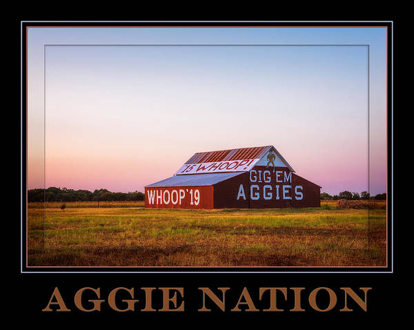 Photograph - Aggie Nation Poster by Joan Carroll