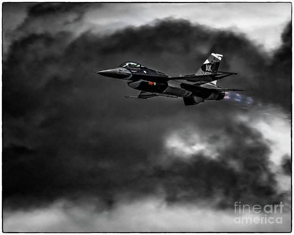 354th Fighter Wing Photograph - Aggressor #pacafdemo Viper Screaming Under Clouds by Joe Kunzler