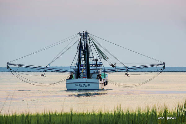Work Boat Photograph - Agnes Marie by Walt  Baker