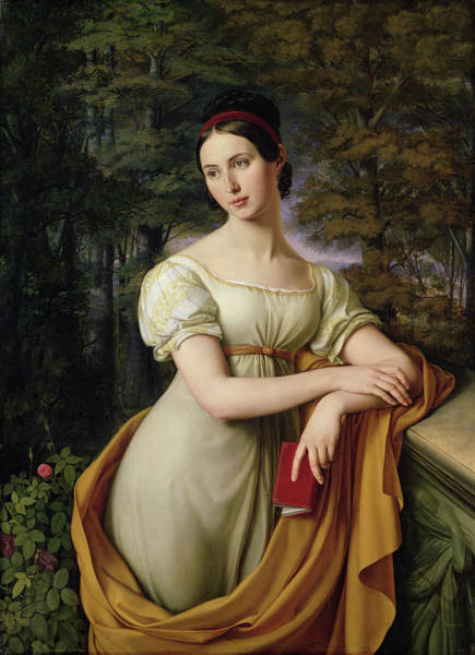 Rauch Wall Art - Painting - Agnes Rauch by Wilhelm Schadow
