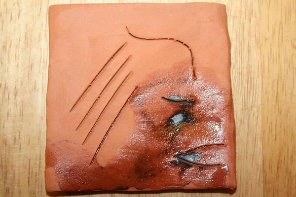 Ceramic Art - Agonise - Tile by Gloria Ssali