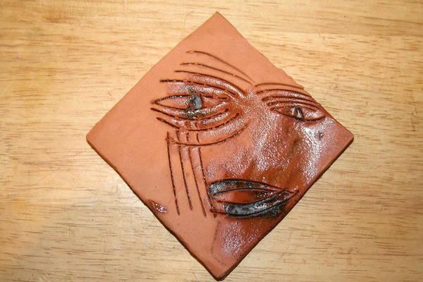 Ceramic Art - Agony - Tile by Gloria Ssali