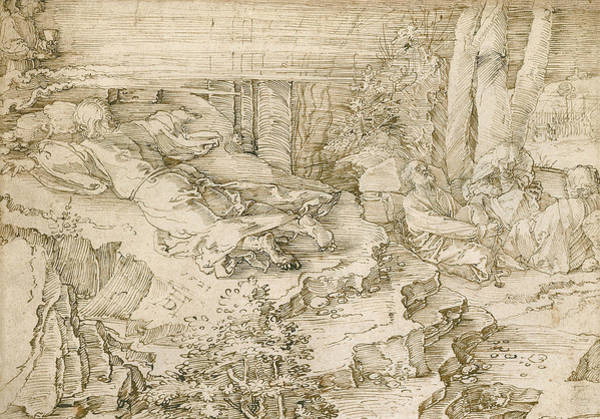 Drawing - Agony In The Garden by Albrecht Durer