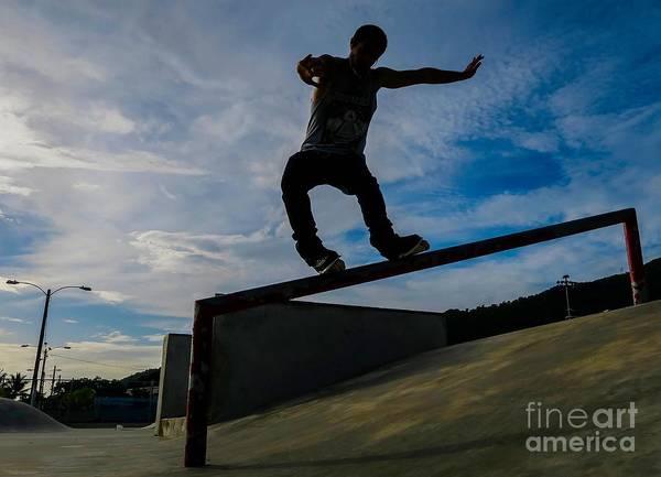 Roller Blades Photograph - Agressive Inline Skating by Charles Miner Rosado