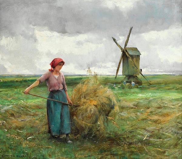 Sickle Painting - Agriculture by Julien Dupre