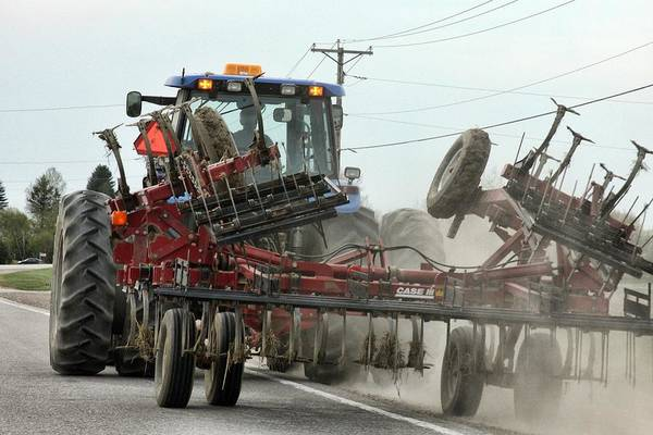 Photograph - Agriculture Combine On The Road by Tatiana Travelways