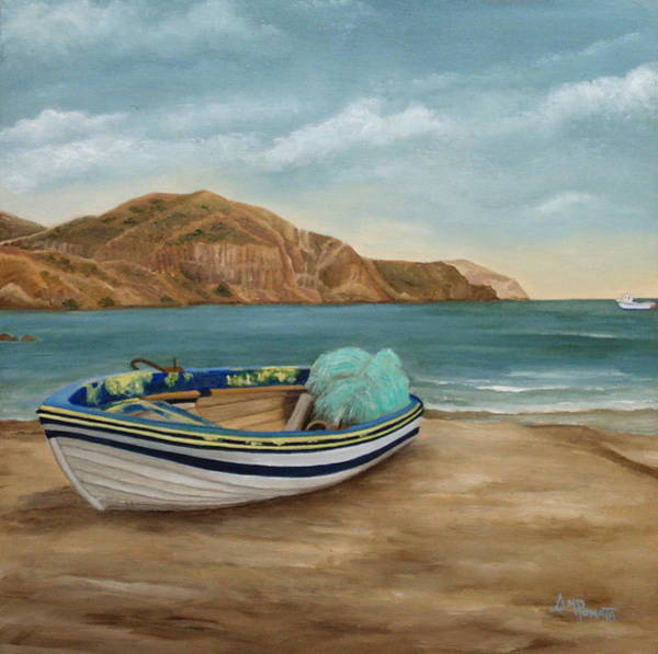 Painting - Aground On The Shore by Angeles M Pomata