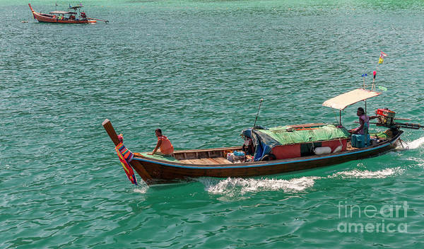Koh Phi Phi Wall Art - Photograph - Ahoy Long Boat by Thomas Levine