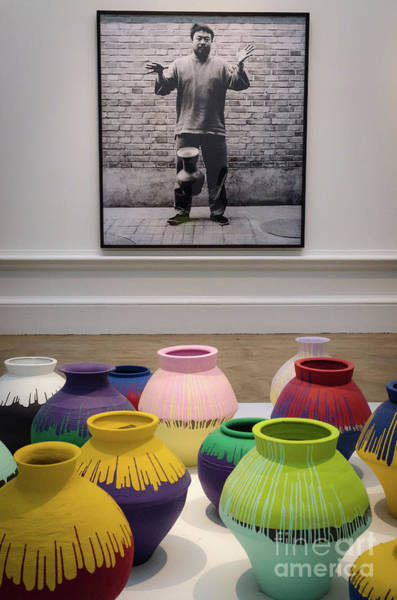 Photograph - Ai Weiwei, Portrait And Vases by Perry Rodriguez