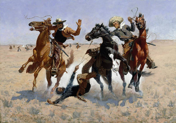 West Texas Wall Art - Painting - Aiding A Comrade by Frederic Remington