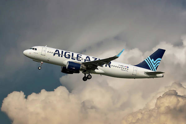 Wall Art - Photograph - Aigle Azur Airbus A320-200 by Smart Aviation