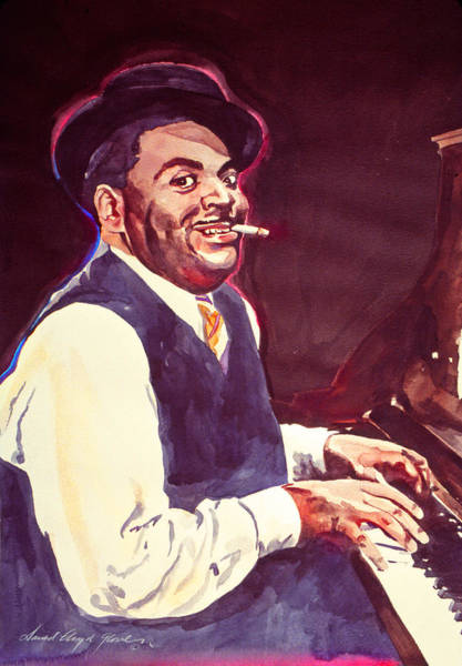 Painting - Aint Misbehavin' Fats Waller by David Lloyd Glover