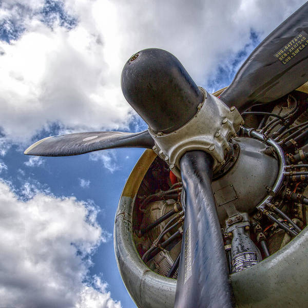Wall Art - Photograph - Aiplane Prop Engine by Mike Burgquist