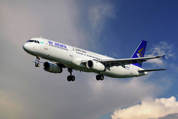 Wall Art - Photograph - Air Astana Airbus A321 by Smart Aviation