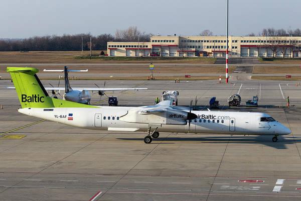 Wall Art - Photograph - Air Baltic Bombardier Dash 8 Q400  by David Pyatt
