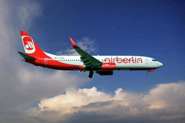 Air Berlin Photograph - Air Berlin Boeing 737-800 by Smart Aviation
