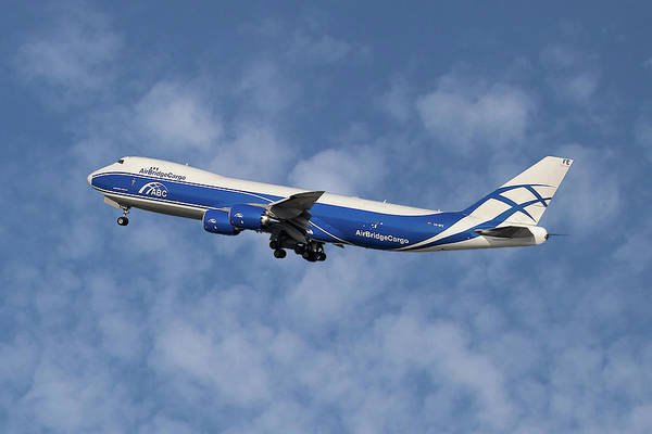 Boeing 747 Wall Art - Photograph - Air Bridge Cargo Airlines Boeing 747-83q by Smart Aviation