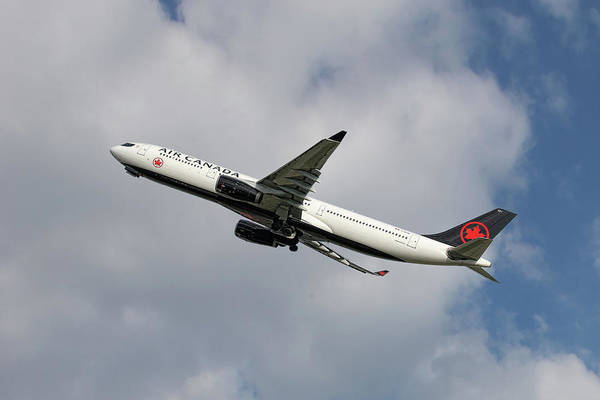 Air Canada Wall Art - Mixed Media - Air Canada Airbus A330-343 by Smart Aviation