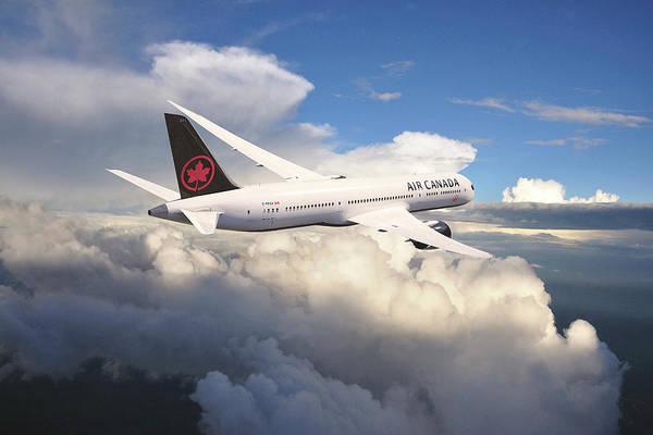 Wall Art - Digital Art - Air Canada Boeing 787 Dreamliner by J Biggadike