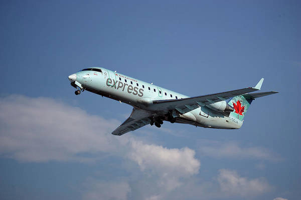 Air Canada Wall Art - Photograph - Air Canada Express Bombardier Crj-200er by Smart Aviation