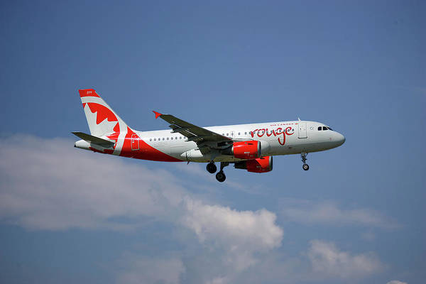 Air Canada Wall Art - Photograph - Air Canada Rouge Airbus A319-114 4 by Smart Aviation