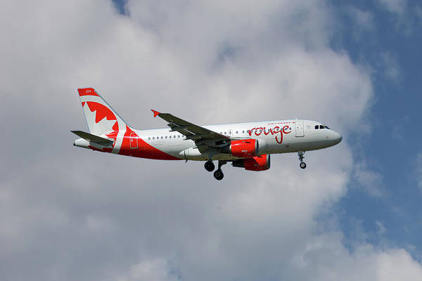 Air Canada Wall Art - Photograph - Air Canada Rouge Airbus A319-114 5 by Smart Aviation