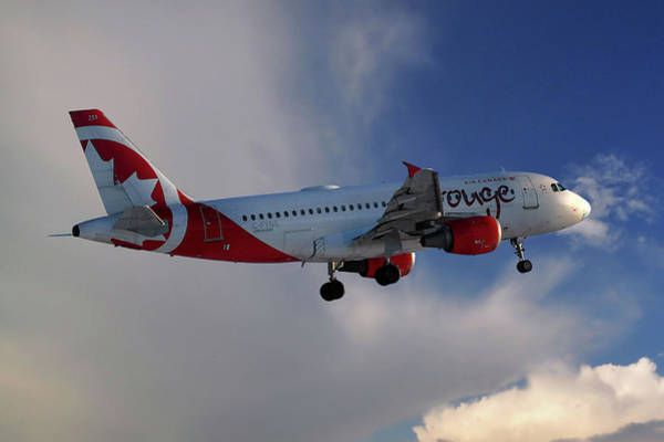 Air Canada Wall Art - Photograph - Air Canada Rouge Airbus A319-114 by Smart Aviation