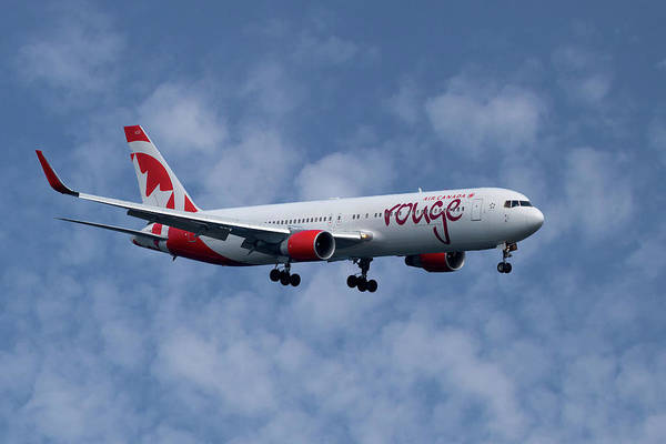Air Canada Wall Art - Photograph - Air Canada Rouge Boeing 767-333 1 by Smart Aviation
