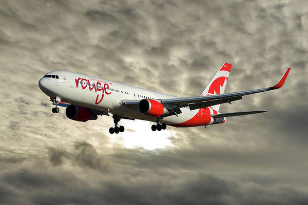 Air Canada Wall Art - Photograph - Air Canada Rouge Boeing 767-333 115 by Smart Aviation