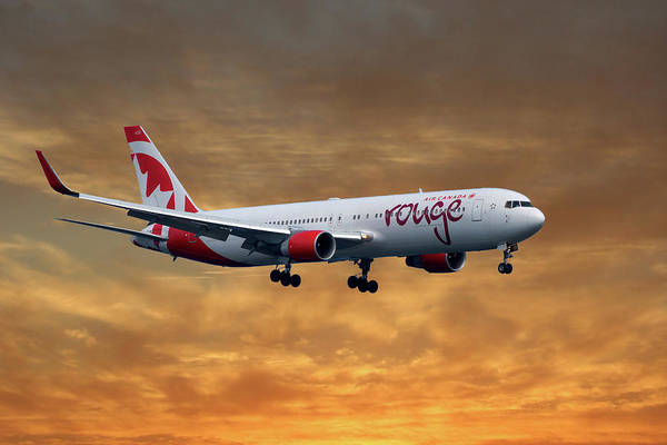 Air Canada Wall Art - Photograph - Air Canada Rouge Boeing 767-333 2 by Smart Aviation