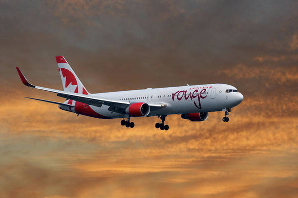 Air Canada Wall Art - Photograph - Air Canada Rouge Boeing 767-333 3 by Smart Aviation