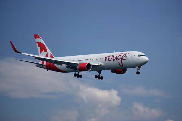 Air Canada Wall Art - Photograph - Air Canada Rouge Boeing 767-333 4 by Smart Aviation