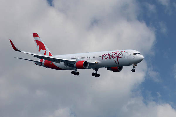 Air Canada Wall Art - Photograph - Air Canada Rouge Boeing 767-333 5 by Smart Aviation