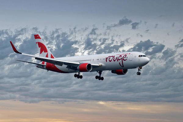 Air Canada Wall Art - Photograph - Air Canada Rouge Boeing 767-333 by Smart Aviation