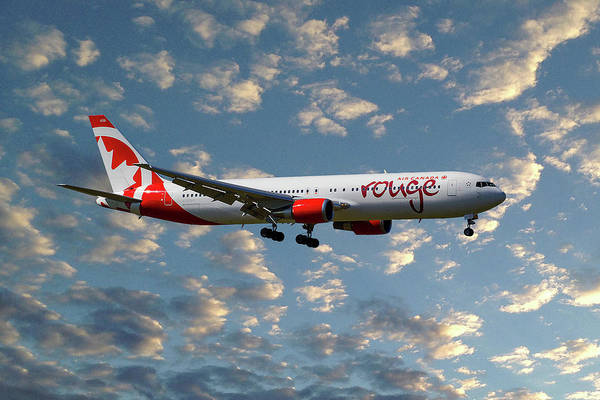 Boeing 767 Wall Art - Photograph - Air Canada Rouge Boeing 767-35h 119 by Smart Aviation