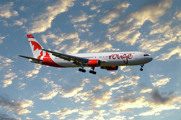 Air Canada Wall Art - Photograph - Air Canada Rouge Boeing 767-35h 120 by Smart Aviation