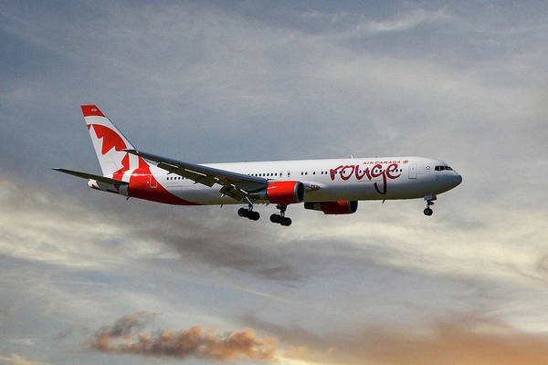 Boeing 767 Wall Art - Photograph - Air Canada Rouge Boeing 767-35h 121 by Smart Aviation