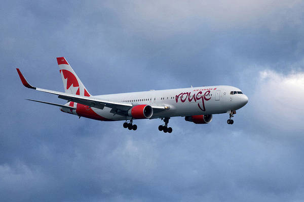 Boeing 767 Wall Art - Photograph - Air Canada Rouge Boeing 767 by Smart Aviation