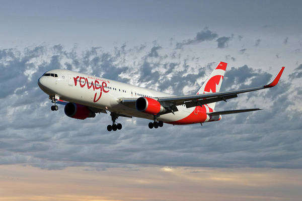 Boeing 767 Wall Art - Photograph - Air Canada Rouge Boeing 767-333 113 by Smart Aviation