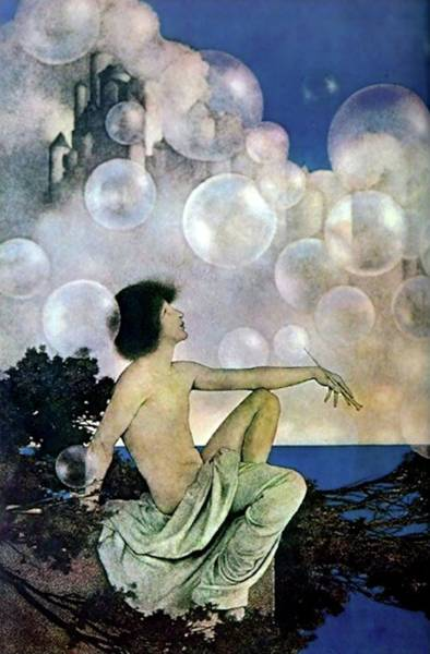 Painting - Air Castles by Maxfield Parrish