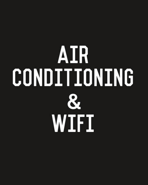 Summer Digital Art - Air Conditioning And Wifi- Art By Linda Woods by Linda Woods